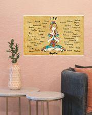 YOGA - I AM  - CUSTOM NAME 24x16 Poster poster-landscape-24x16-lifestyle-22