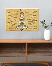 YOGA - I AM  - CUSTOM NAME 24x16 Poster poster-landscape-24x16-lifestyle-25