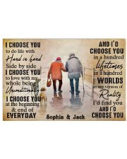 FAMILY - I CHOOSE YOU  - CUSTOM NAME 24x16 Poster front
