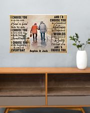 FAMILY - I CHOOSE YOU  - CUSTOM NAME 24x16 Poster poster-landscape-24x16-lifestyle-25