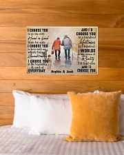 FAMILY - I CHOOSE YOU  - CUSTOM NAME 24x16 Poster poster-landscape-24x16-lifestyle-27