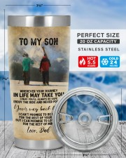 FATHER AND SON SKIING PARTNERS FOR LIFE 20oz Tumbler aos-20oz-tumbler-lifestyle-front-49