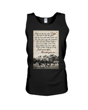 JUST REMEMBER THE RIDE GO ON Unisex Tank tile