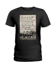 JUST REMEMBER THE RIDE GO ON Ladies T-Shirt tile