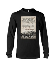 JUST REMEMBER THE RIDE GO ON Long Sleeve Tee tile