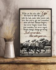 JUST REMEMBER THE RIDE GO ON 11x17 Poster lifestyle-poster-3
