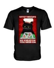 KITTZY BISCUITS V-Neck T-Shirt tile