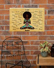 YOGA AFRO - I AM  - CUSTOM NAME 24x16 Poster poster-landscape-24x16-lifestyle-24