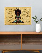 YOGA AFRO - I AM  - CUSTOM NAME 24x16 Poster poster-landscape-24x16-lifestyle-25