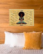 YOGA AFRO - I AM  - CUSTOM NAME 24x16 Poster poster-landscape-24x16-lifestyle-27