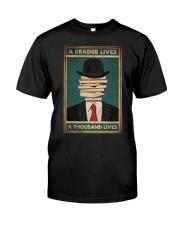 A READER LIVES A THOUSAND LIVES Classic T-Shirt tile