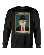 A READER LIVES A THOUSAND LIVES Crewneck Sweatshirt tile