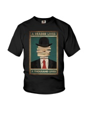 A READER LIVES A THOUSAND LIVES Youth T-Shirt tile