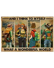 AND I THINK TO MYSELF WHAT A WONDERFUL WORLD 17x11 Poster front