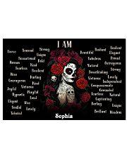 SKULL GIRL - I AM  - CUSTOM NAME 24x16 Poster front