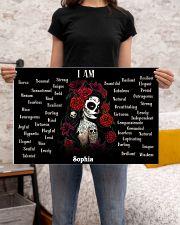 SKULL GIRL - I AM  - CUSTOM NAME 24x16 Poster poster-landscape-24x16-lifestyle-20