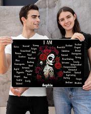 SKULL GIRL - I AM  - CUSTOM NAME 24x16 Poster poster-landscape-24x16-lifestyle-21