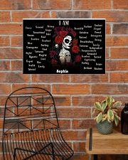 SKULL GIRL - I AM  - CUSTOM NAME 24x16 Poster poster-landscape-24x16-lifestyle-24