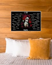SKULL GIRL - I AM  - CUSTOM NAME 24x16 Poster poster-landscape-24x16-lifestyle-27