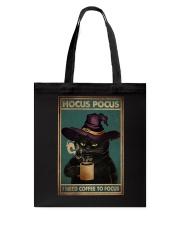 HOCUS POCUS I NEED COFFEE TO FOCUS Tote Bag tile