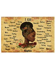BOOK - AFRO GIRL - I AM  - CUSTOM NAME 24x16 Poster front