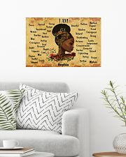 BOOK - AFRO GIRL - I AM  - CUSTOM NAME 24x16 Poster poster-landscape-24x16-lifestyle-01