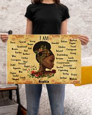 BOOK - AFRO GIRL - I AM  - CUSTOM NAME 24x16 Poster poster-landscape-24x16-lifestyle-20