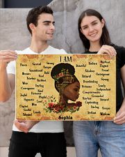 BOOK - AFRO GIRL - I AM  - CUSTOM NAME 24x16 Poster poster-landscape-24x16-lifestyle-21