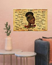 BOOK - AFRO GIRL - I AM  - CUSTOM NAME 24x16 Poster poster-landscape-24x16-lifestyle-22