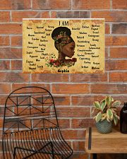 BOOK - AFRO GIRL - I AM  - CUSTOM NAME 24x16 Poster poster-landscape-24x16-lifestyle-24
