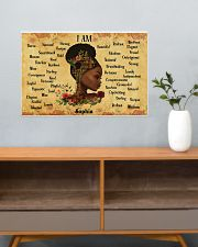 BOOK - AFRO GIRL - I AM  - CUSTOM NAME 24x16 Poster poster-landscape-24x16-lifestyle-25