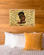 BOOK - AFRO GIRL - I AM  - CUSTOM NAME 24x16 Poster poster-landscape-24x16-lifestyle-27