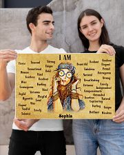 HIPPIE - I AM  - CUSTOM NAME 24x16 Poster poster-landscape-24x16-lifestyle-21