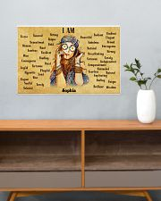 HIPPIE - I AM  - CUSTOM NAME 24x16 Poster poster-landscape-24x16-lifestyle-25