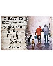 BABY LET'S GO FISHING - CUSTOM NAME 17x11 Poster front