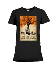 AND SHE LIVED HAPPILY EVER AFTER Premium Fit Ladies Tee tile