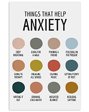 THINGS THAT HELP ANXIETY 11x17 Poster front