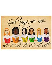 GOD SAYS YOU ARE 17x11 Poster front