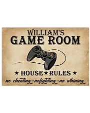 GAME ROOM  - CUSTOM NAME 24x16 Poster front