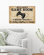 GAME ROOM  - CUSTOM NAME 24x16 Poster poster-landscape-24x16-lifestyle-01