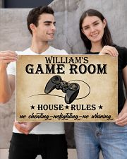 GAME ROOM  - CUSTOM NAME 24x16 Poster poster-landscape-24x16-lifestyle-21