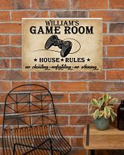 GAME ROOM  - CUSTOM NAME 24x16 Poster poster-landscape-24x16-lifestyle-24