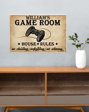 GAME ROOM  - CUSTOM NAME 24x16 Poster poster-landscape-24x16-lifestyle-25