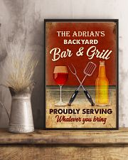 BAR AND GRILL - CUSTOM NAME 11x17 Poster lifestyle-poster-3