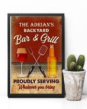 BAR AND GRILL - CUSTOM NAME 11x17 Poster lifestyle-poster-8
