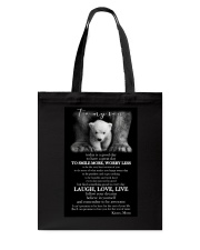 TO MY SON Tote Bag tile