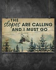 THE SLOPES ARE CALLING AND I MUST GO 17x11 Poster poster-landscape-17x11-lifestyle-12