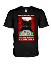 I JUST BAKE YOU SOME SHUT THE FUCUPCAKES V-Neck T-Shirt tile