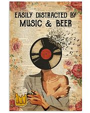 EASILY DISTRACTED BY MUSIC AND BEER 11x17 Poster front