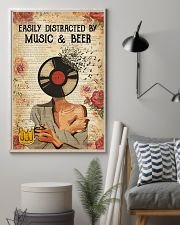 EASILY DISTRACTED BY MUSIC AND BEER 11x17 Poster lifestyle-poster-1
